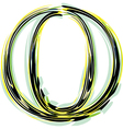 font letter O vector image vector image