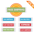Free delivery logistic advertising - - EPS1 vector image vector image