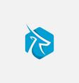 gazelle icon design logo vector image