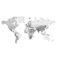 Gray detailed world map vector | Price: 1 Credit (USD $1)