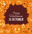 halloween pumpkins jack o lantern and evil faces vector image