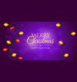 hanging christmas garland xmas banner or greeting vector image