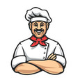 happy chef icon vector image