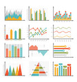 infographics symbols business graphs and diagrams vector image