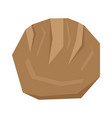 isolated geometric bread vector image