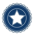 Isolated usa seal stamp and star design vector image
