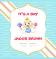its a boy baby shower background vector image vector image