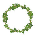 ivy round frame vector image vector image