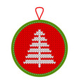knitted christmas decoration tree vector image vector image