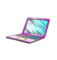 laptop computer electronic gadget color vector image