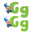 letter G gnome vector image vector image