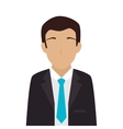 man adult suit tie vector image