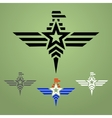 Military style eagle emblem set vector image