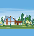 modern village house flat vector image vector image