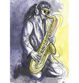 Musician - Sax player vector image vector image