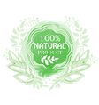 Natural product floral label vector image vector image