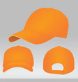 orange baseball cap vector image