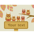 owl with sign vector image vector image