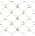 pattern anchor and rope vector image vector image