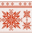 pattern of a seamless red and white knitted vector image vector image