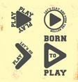 play symbol t shirt stamp t-shirt print design vector image vector image
