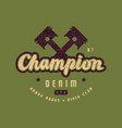 racing champion emblem for t-shirt vector image vector image