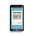 reading online articles and news on mobile phone vector image