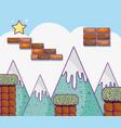 retro videogame scenery vector image