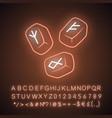 rune stones neon light icon scandinavian nordic vector image
