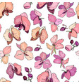 seamless floral pattern with romantic flowers vector image vector image