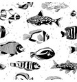 seamless pattern with fish vector image vector image