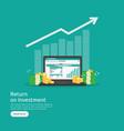 seo data analytic spreadsheet on screen business vector image vector image