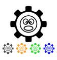 service gear shout smiley icon vector image