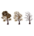 Set of autumn trees vector image