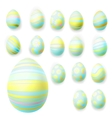 Set of easter eggs EPS 10 vector image vector image