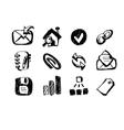 sketch web icons vector image