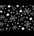 snowflake simple seamless pattern vector image