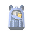 sport rucksack isolated icon vector image vector image