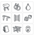 Sports Equipment icons set vector image vector image
