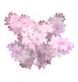 spring flower twig pink lilac syringa vulgaris vector image