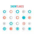 symbol snow holiday cold weather frost vector image vector image
