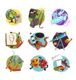 symbols different professions icons set vector image vector image