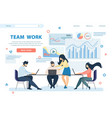 team work horizontal banner business people group vector image vector image
