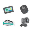 travel gadgets set vector image vector image