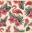 tropical light vintage seamless pattern vector image vector image