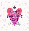 valentines day hand drawn vector image vector image