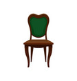 vintage green chair comfortable furniture vector image vector image