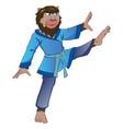 werewolf in kung-fu attire vector image
