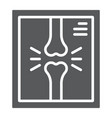 x-ray glyph icon medicine and clinical radiology vector image