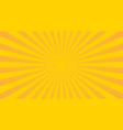 yellow sunbeams halftone background vector image vector image